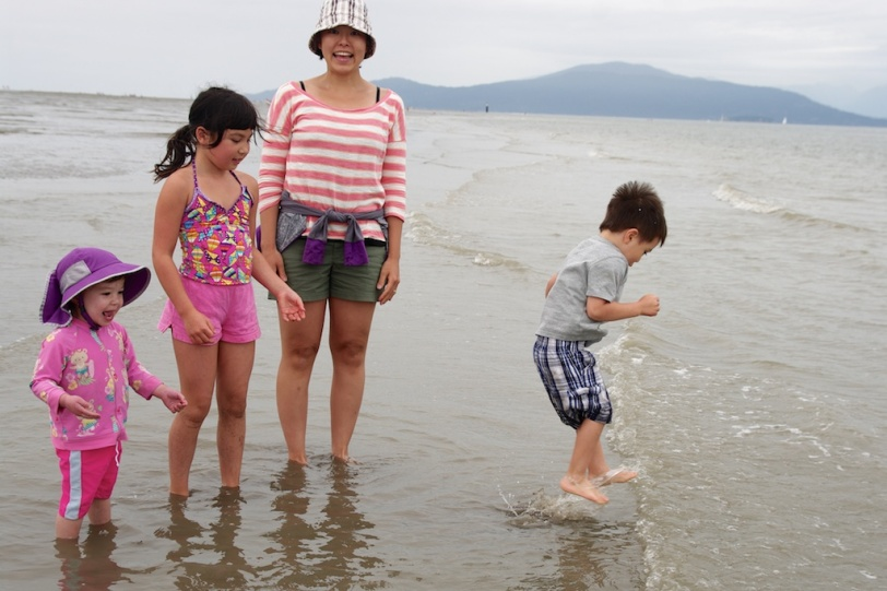 Beach fun with Marissa, Auntie Jen and Manny