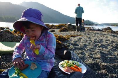 Salmon BBQ on the beach - MMMM