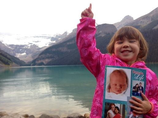 Remembering Audrey at Lake Louise.