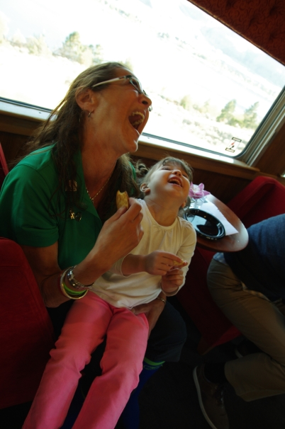 Sharing some laughs with Margaret (double lung).