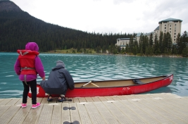 Canoeing on Lake Louise.