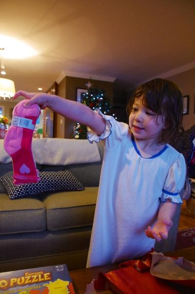 LOVE my new pink socks!