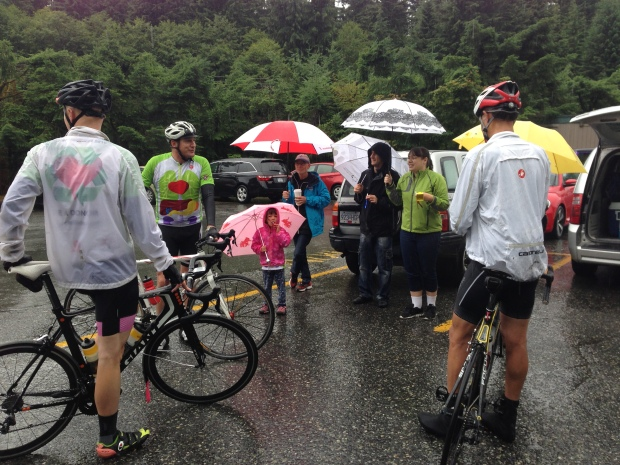 Grouse Mountain - the rainy day end of the Recycle Ride.