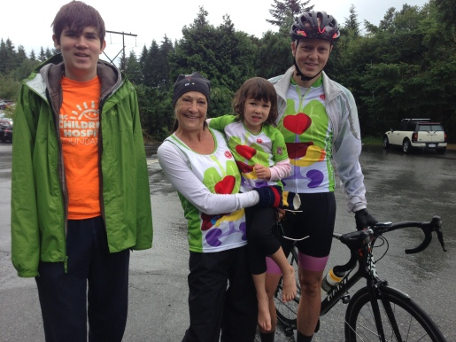 Four of the transplant recipients today - Andrew (heart), Margaret (double lung), Addison and Clarke (liver)
