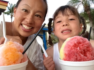 Loving the shave ice