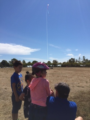 Kite flying with cousins