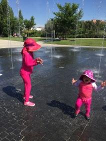 Splash time in Madrid