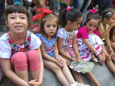 Waiting for the Tarasca parade in Granada