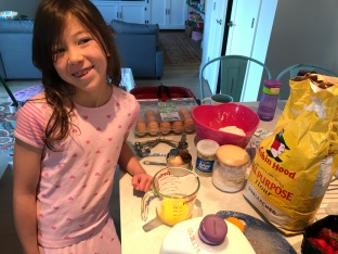 Addison whipped up pancakes for Father's Day!